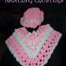 Dancing Clusters Crochet Poncho & Hat Pattern Girls Original Design