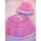 Sweet Heart Poncho & Hat Original Crochet Pattern Design