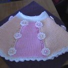 "Crochet Poncho Pattern ""Bubblegum & Sherbet"" Tunisian Stitch"
