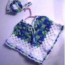 """Life's a Beach"" Crochet Pattern Poncho & Hat"