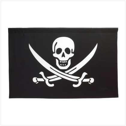 Jolly Roger Black white flag
