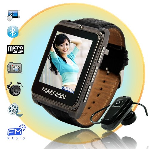 Fashionable Ultra Thin Quadband 1.8 Inch Touch Screen Wrist Watch Cell Phone  S9110