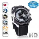 Free Shipping 4GB Brand New Gossip Face IR Night Vision HD Camera Watch DVR Voice Active (F9)