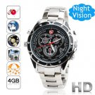 Free Shipping Sports Style Wrist Watch Hidden Camera 1080P HD Voice Active Control  4GB (F6)