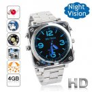 Free Shipping Sport Plastic 1080P HD Mini Camera Watch Voice Control Active 4GB (F8)