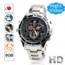 Free Shipping Sports Style Wrist Watch Hidden Camera 1080P HD Voice Active Control 8GB (F6)