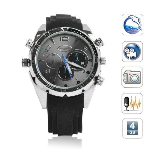 Stylish 4GB 1080P hd infrared Waterproof watch camera dvr Night vision Motion Detection Sensor W5000