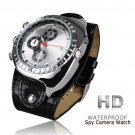 Real Leather Band 8GB Spy Camera Camcorder Watch Waterproof Motion Detection Sensor (W7000)