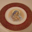 Madonna Heart Plate Harmony House by Salem 23k gold  (443)