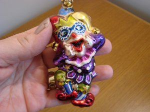 Christopher Radko Glass Laughing Stock Jester with Box