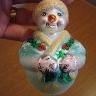 Christopher Radko Glass Jolly Wrap Junior Snowman Box