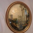 Vintage Decoupage Framed Picture by J.B.Van Sciver Co.