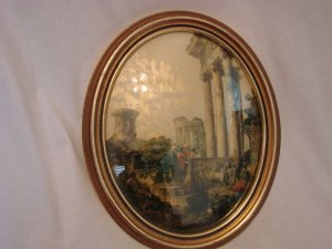 Vintage Decoupage Framed Picture by J.B.Van Sciver Co.
