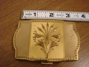 Vintage Goldtone Compact with Mirror Fifth Avenue Van Ace