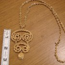 Goldtone Necklace with Large Pendant