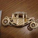 Goldtone Vintage Car Pin embellished with Rhinestones