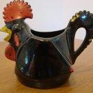 Chicken Ceramic Creamer or 1 Cup Measuring Cup Black