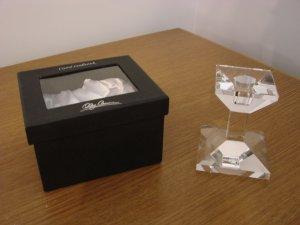 Oleg Cassini Crystal Candlestick - Classic - New in Box