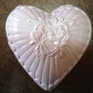 Ceramic Heart Shaped Candle - Light Gingham Scent - Pink