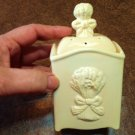 Ceramic Ginger Jar Candle - Gingham Scent - Pastel Yellow
