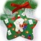 Avon Decoupage Teddy Ornament Star Original Box