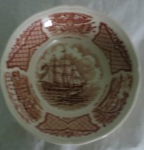 Fruit/Dessert (Saucer) Bowl in Fair Winds-Brown by Meakin, Alfred USED