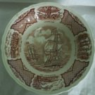 "8 1/2""  Round Vegetable Bowl in Fair Winds-Brown by Meakin, Alfred USED"