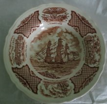 Large Rim Soup Bowl in Fair Winds-Brown by Meakin, Alfred USED