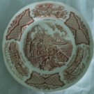 Bread & Butter Plate in Fair Winds-Brown by Meakin, Alfred USED