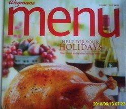 Wegmans Menu Magazine Holiday 2011