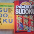 Set Of 2 Sudoku Books Pocket And Hard/Very Hard NEW