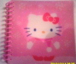 "Hello Kitty Spiral Notepad 4"" x 4"" NEW"