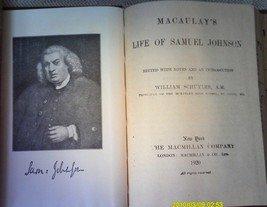Macaulay's Life Of Samuel Johnson 1920 Hardcover