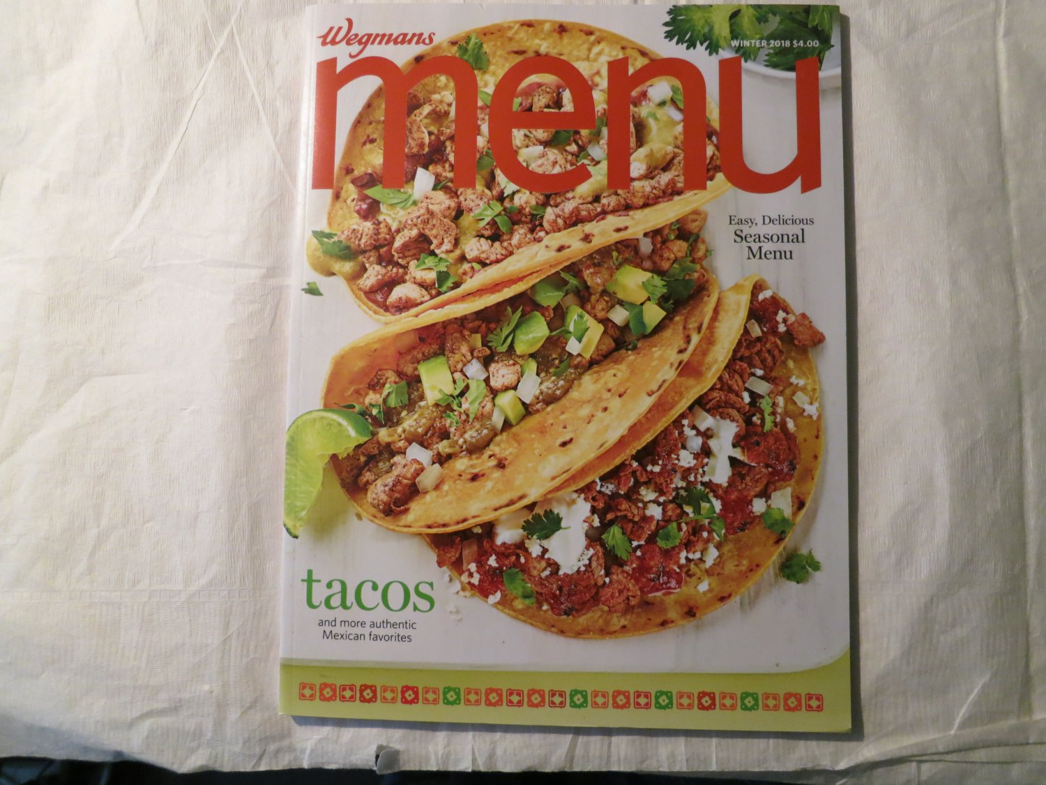 Wegmans Menu Magazine Winter 2018