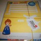 Korean Hello Airport Kawaii Girl Letter Set