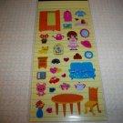 Lucky Land Kawaii Room Dress Up Sticker Sheet