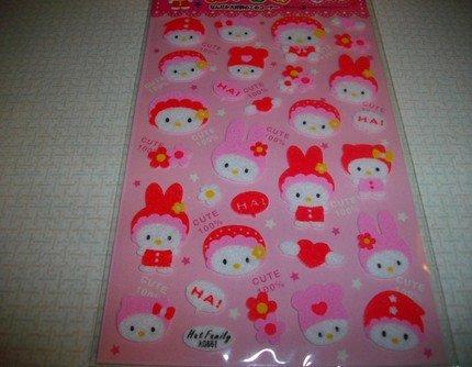 Kawaii Pretty In Pink Kitten Sticker Sheet