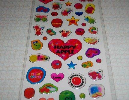 Fruits Seal Kawaii Apple Sticker Sheet