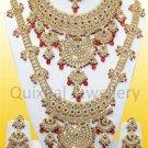Indian Costume Jewelry Bridal Set Jodha Akbar 811 Maroon