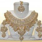 Indian Costume Jewelry Jodha Akbar Necklace Set 921 White