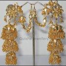 3-Step Jhumki Earring 300 - Golden