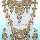 Indian Costume Jewellery Jodha Akbar Dulhan Set 811 Firozi
