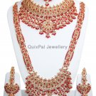 Indian Costume Jewellery Surkh Bagh Dulhan Set 710 Red