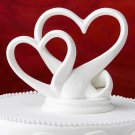 Interlocking hearts design cake topper