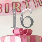 Sweet 16 Rhinestone Cake Top Numbers