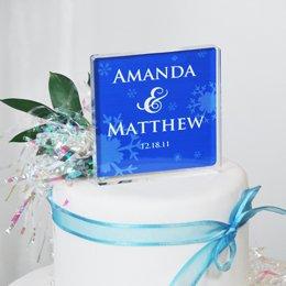 Winter Wedding Cake Topper