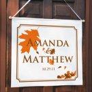 Fall Wedding Custom Banner