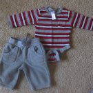 Red/grey Old Navy long sleeve shirt and warm pants
