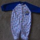 Blue/White Football Pajamas Carter's 0-3 months