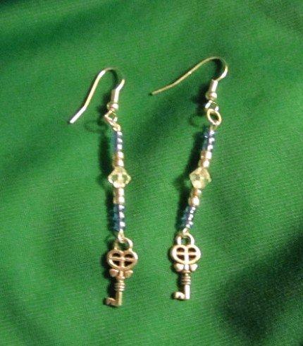 Key To Your Heart Dangle Earrings